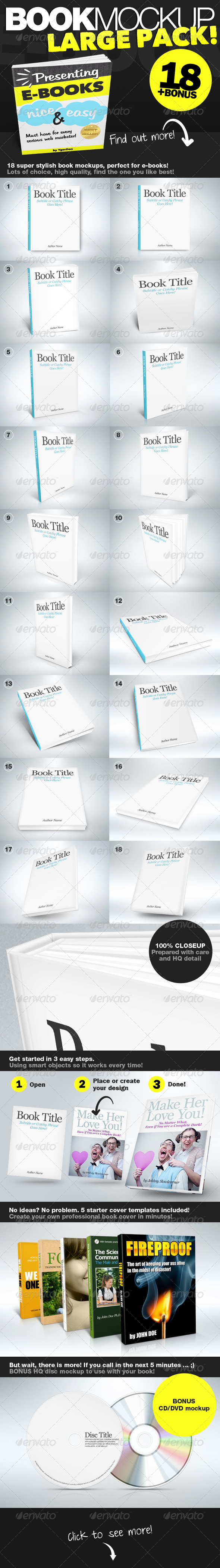Book Mockup LARGE Pack - Books Print