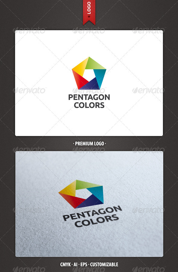Pentagon Colors Logo Template