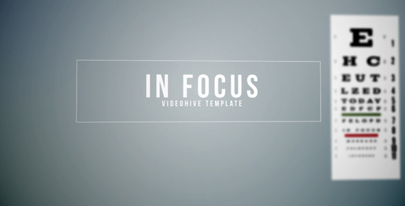 After Effects Project - VideoHive In Focus 2380298