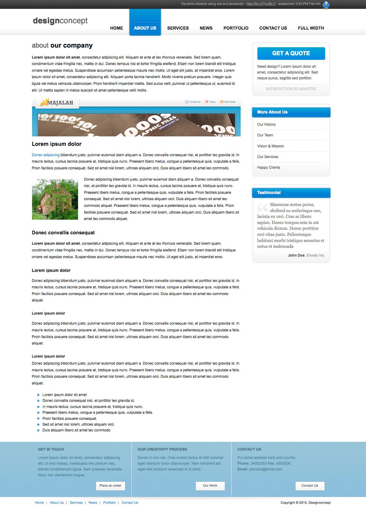 Designer Portfolio Elegant Template - Designer Portfolio Elegant Template (3 Colors) - About Us