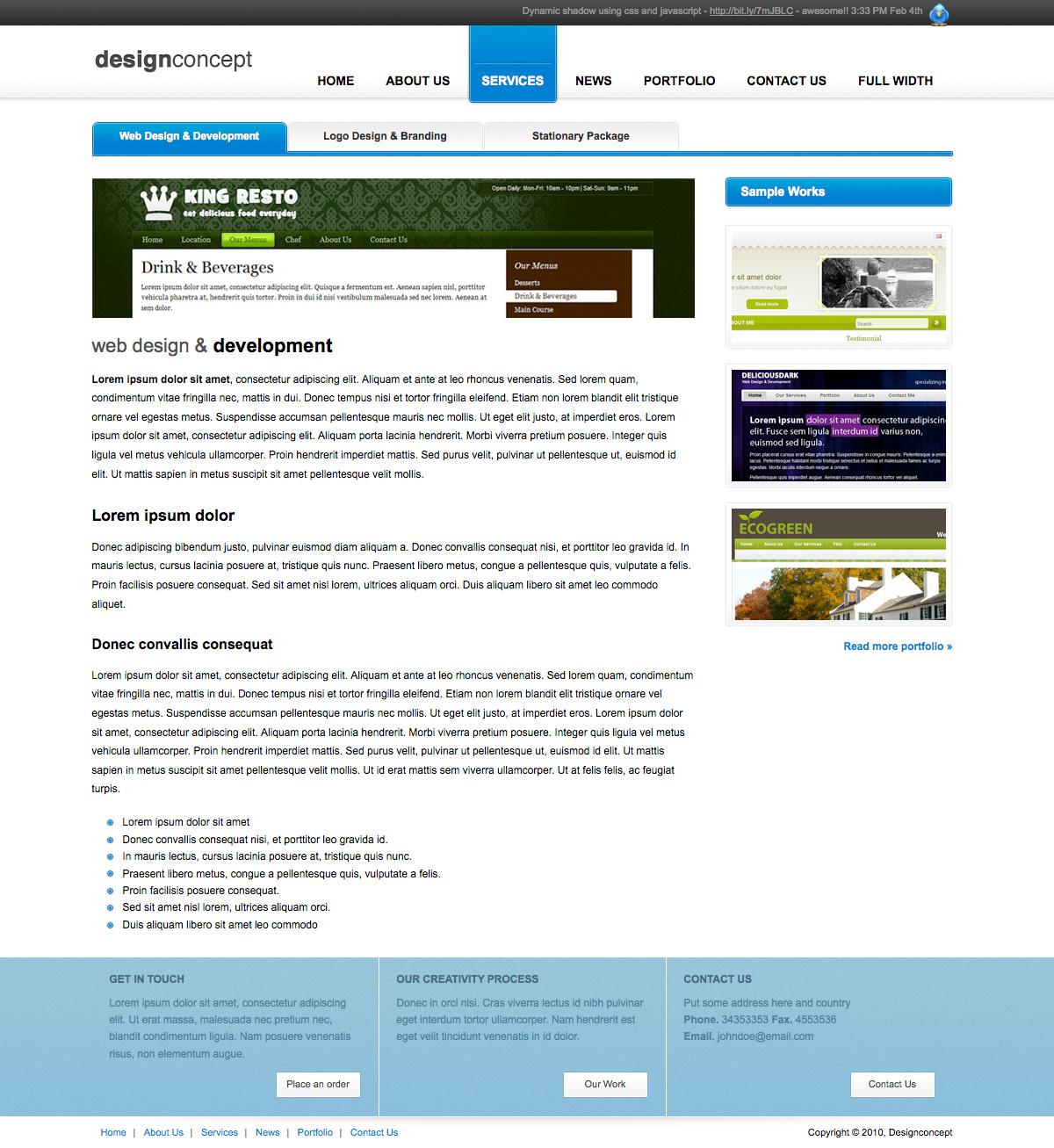 Designer Portfolio Elegant Template - Designer Portfolio Elegant Template (3 Colors) - Services