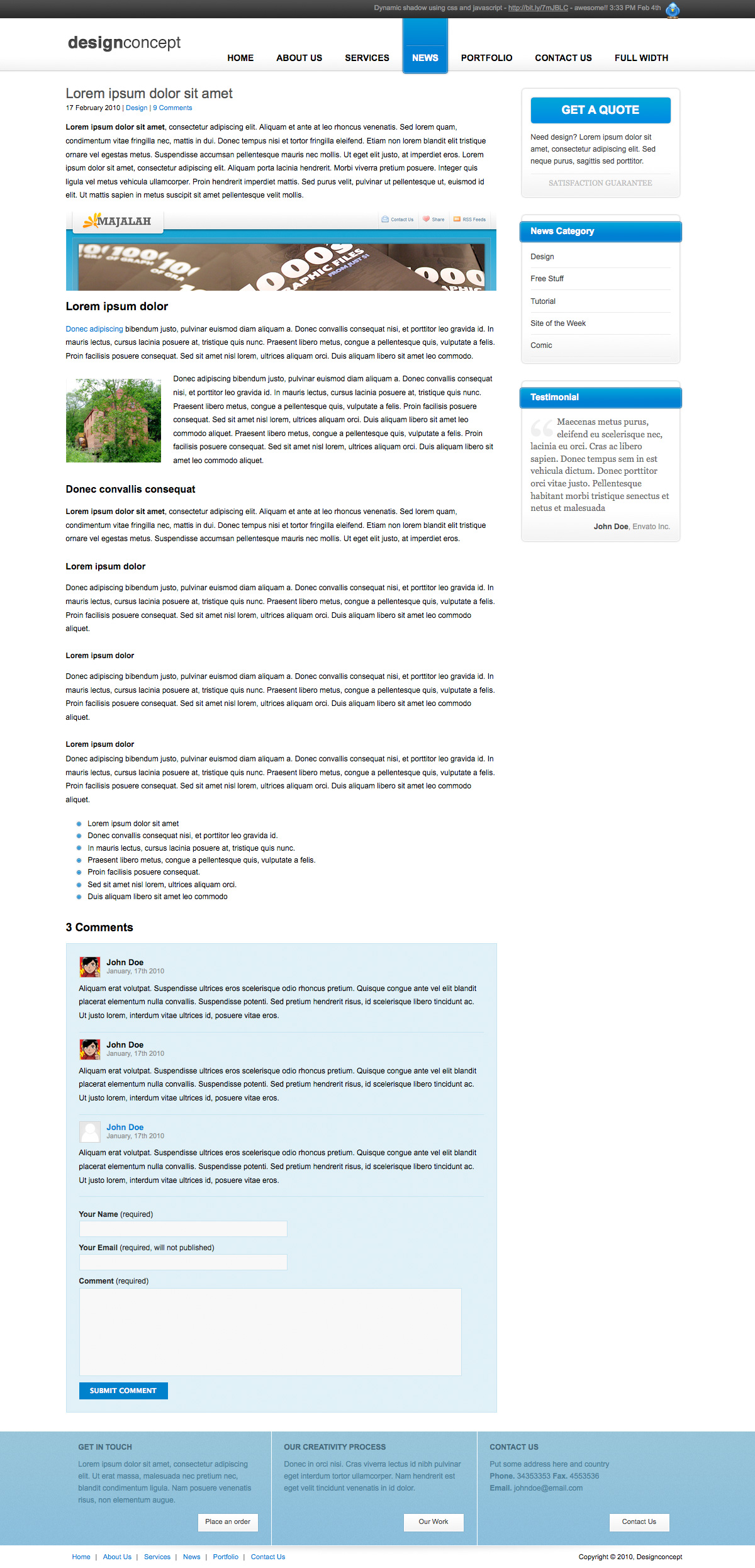 Designer Portfolio Elegant Template - Designer Portfolio Elegant Template (3 Colors) - News Detail