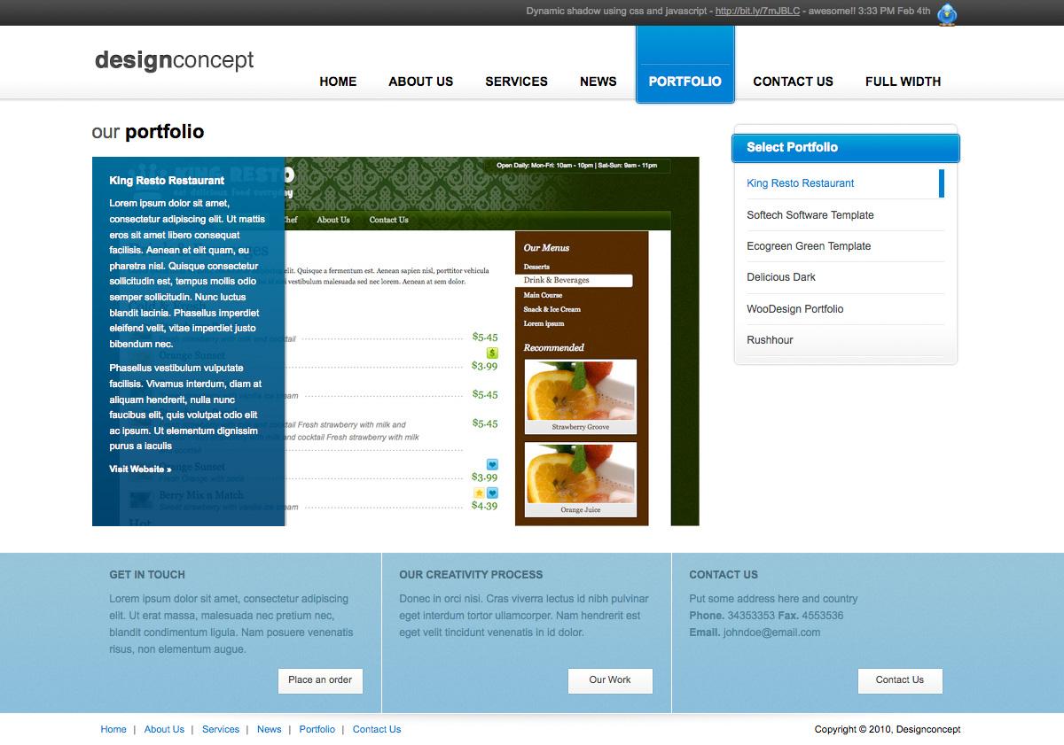 Designer Portfolio Elegant Template - Designer Portfolio Elegant Template (3 Colors) - Portfolio