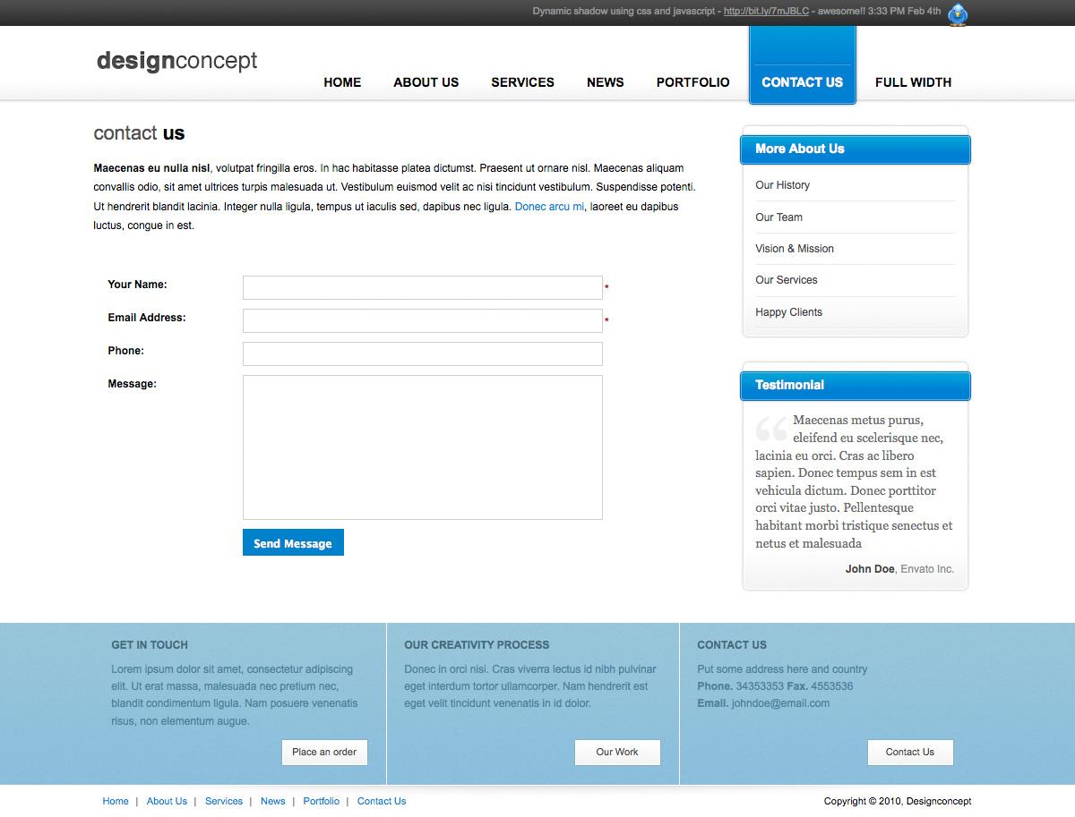 Designer Portfolio Elegant Template - Designer Portfolio Elegant Template (3 Colors) - Contact Us