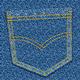 карман джинсов - Стоковая иллюстрация. карман джинсов - Cтоковый вектор.