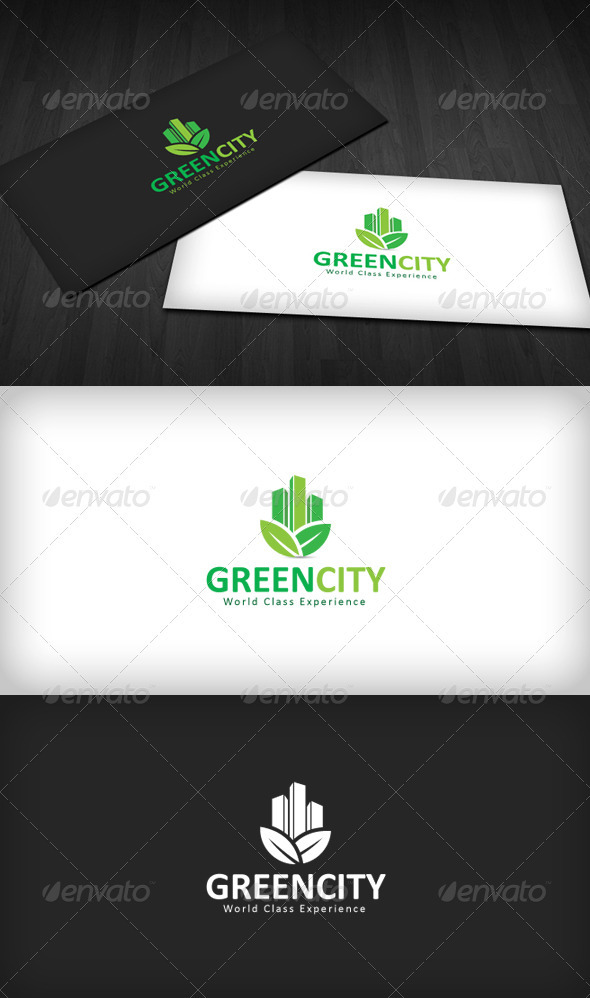 Green City Logo - Buildings Logo Templates