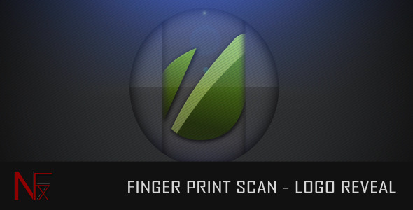 After Effects Project - VideoHive Finger Print Scan Logo Reveal 2383641