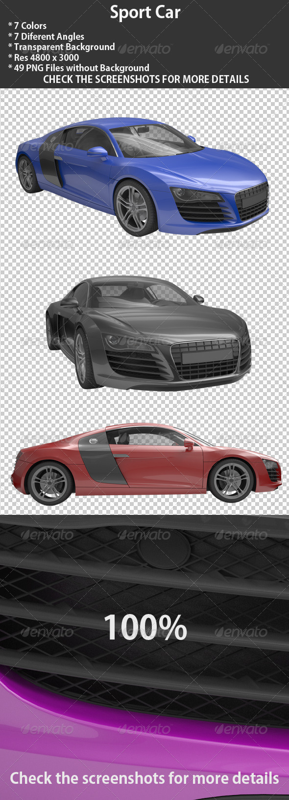 3D Sport Cars - 3D Renders Graphics
