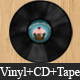 Realistic music case graphics (Vinyl + CD + tape) - GraphicRiver Item for Sale