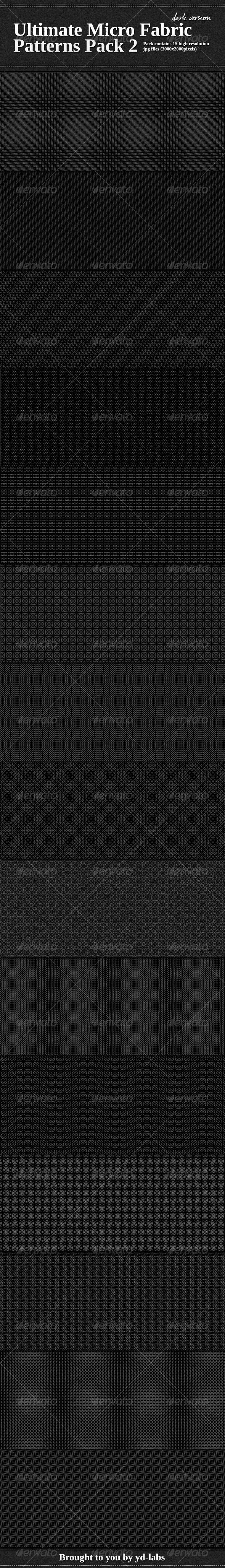 Ultimate Micro Fabric Patterns Pack 2 - Fabric Textures