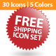 Complete Free shipping Icon Set - GraphicRiver Item for Sale