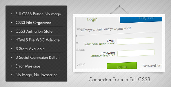 CodeCanyon Connexion Form In Full Css3 2378291