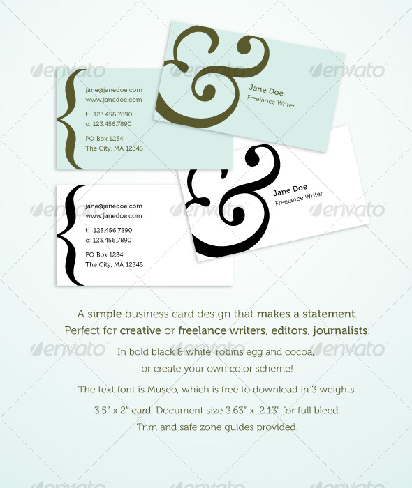 Editor business card templates designs from graphicriver reheart Choice Image