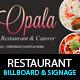 Restaurant Billboard AD Signage PSD Templates