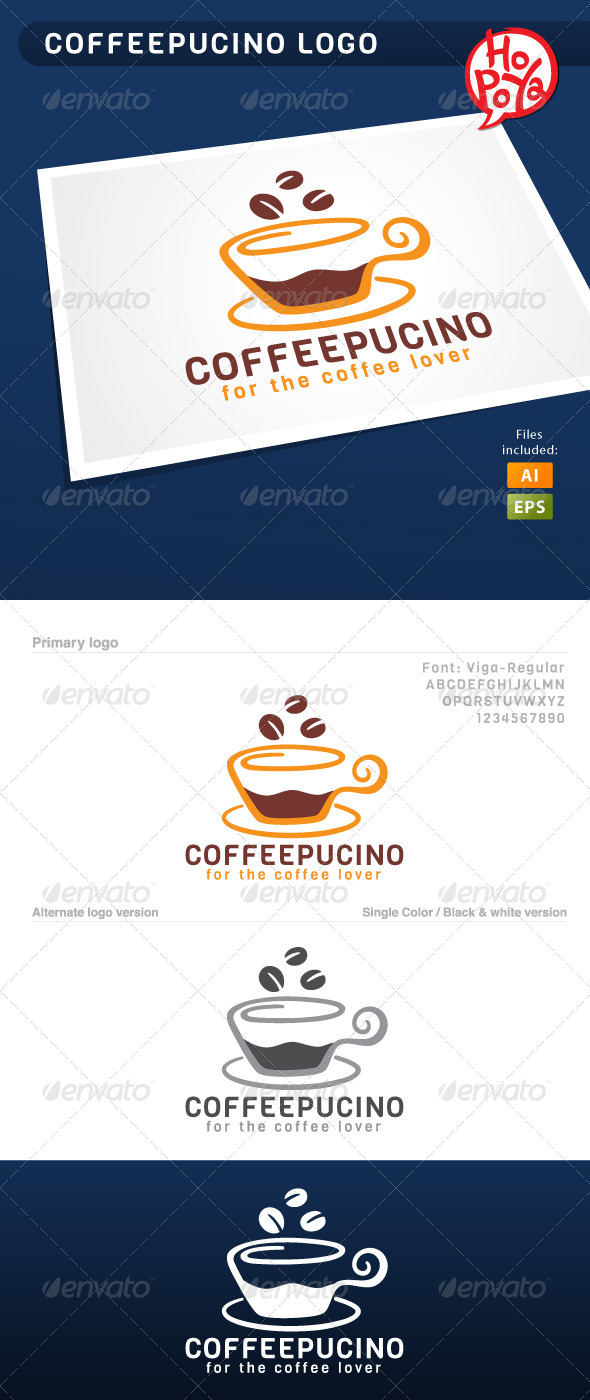 Coffeepucino Logo - Objects Logo Templates