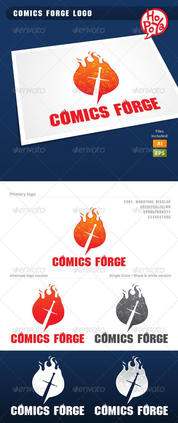 Comics Forge Logo - Symbols Logo Templates
