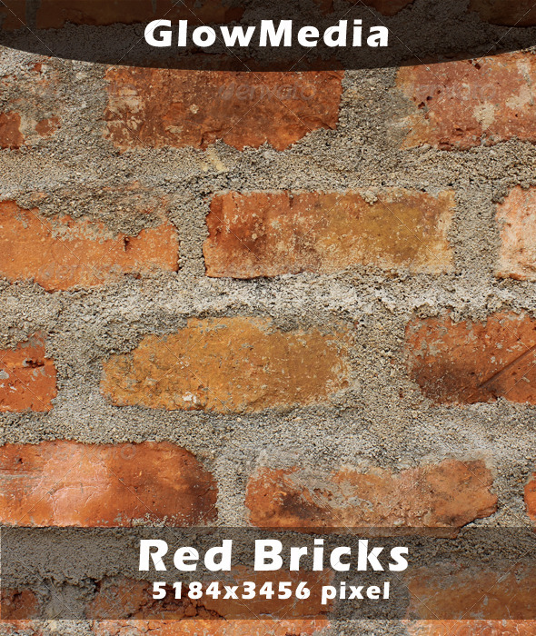 Red Color Bricks - Concrete Textures