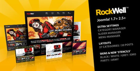 ThemeForest Rockwell Joomla Template 2387553