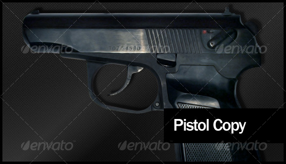 GraphicRiver Real Pistol Model 88067