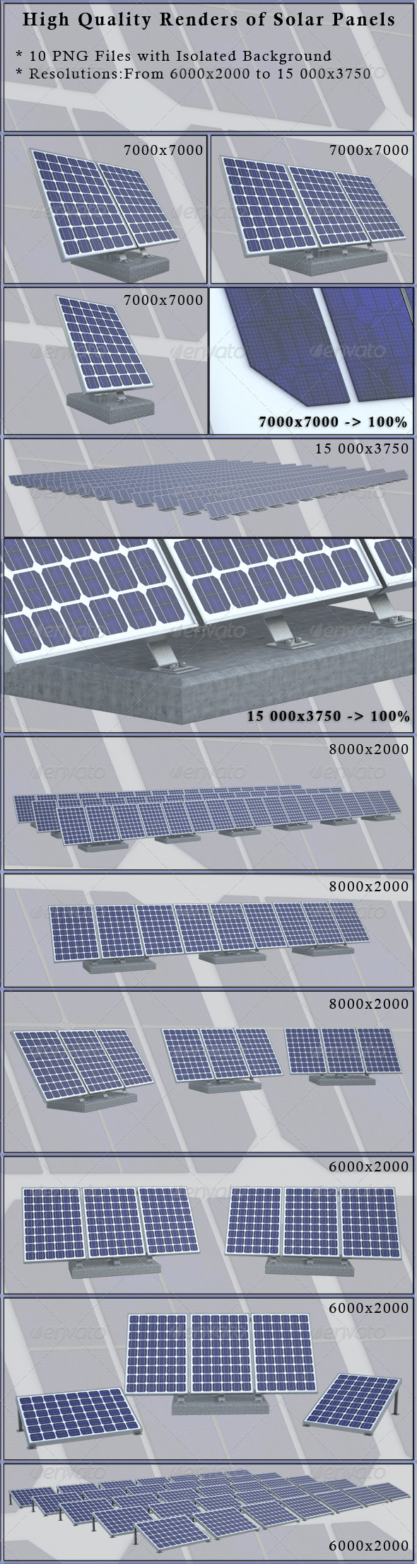 Solar Panels - Technology 3D Renders