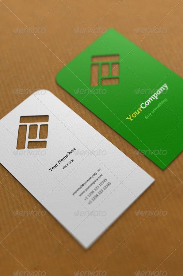 die cut business card mockup by artbees