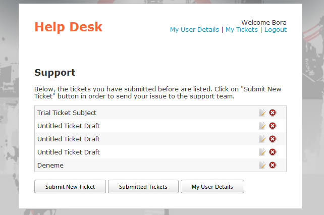 Help Desk - Customer Service - Ticket System