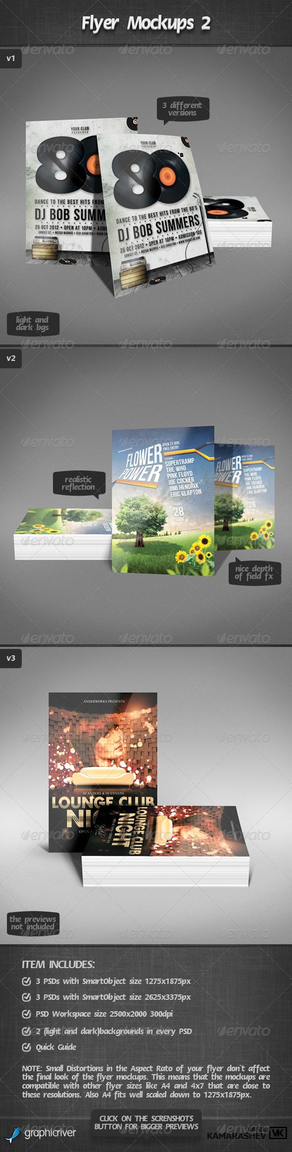 GraphicRiver Flyer Mockups 2 2375154