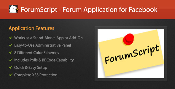 ForumScript - Forum application pour Facebook - WorldWideScripts.net objet en vente