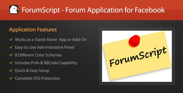 ForumScript - Aplikasi Forum untuk Facebook - WorldWideScripts.net Barang Dijual