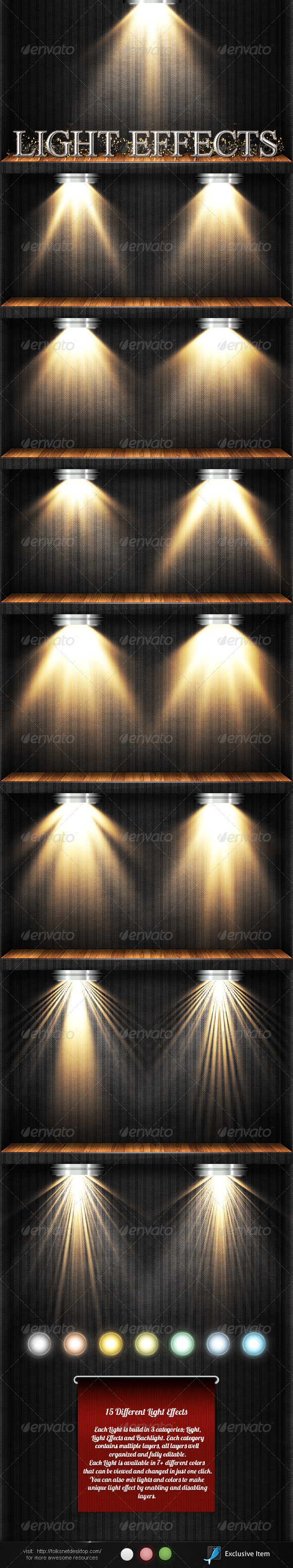 GraphicRiver Light Effects Set 3 2389768