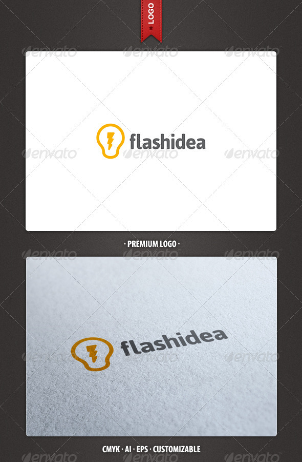 Flash Idea Logo Template