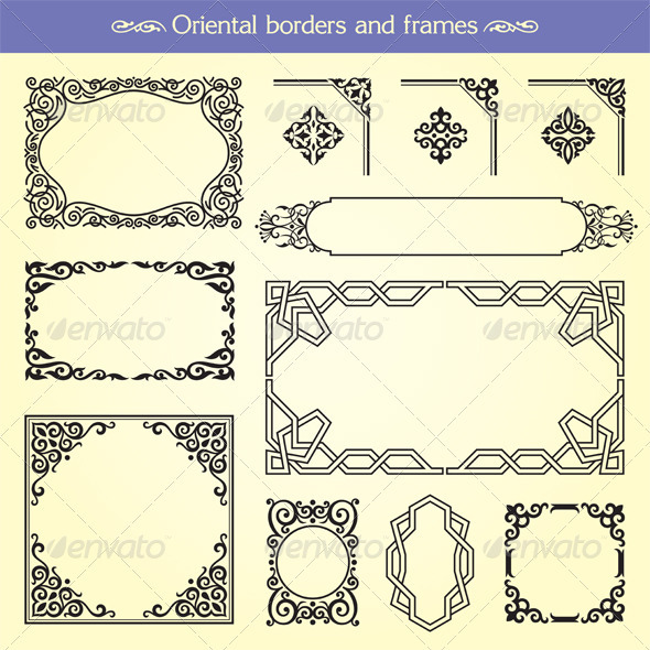 GraphicRiver Oriental Asian Borders And Frames 2390118