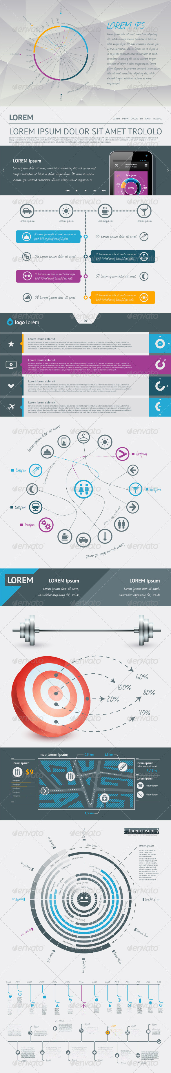 GraphicRiver Elements of Infographics with buttons and menus 2390401