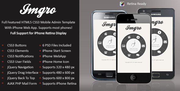 IMGRo Mobile Retina | HTML5 & CSS3 And iWebApp
