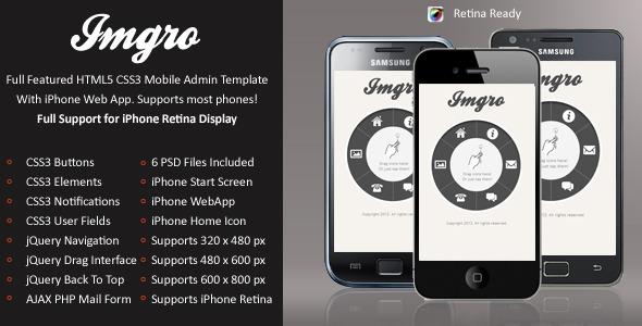 IMGRo Mobile Retina | HTML5 & CSS3 And iWebApp