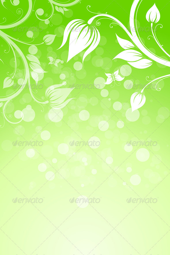 GraphicRiver Floral Background 2390445