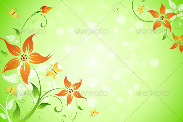 GraphicRiver Flowers Background 2390465