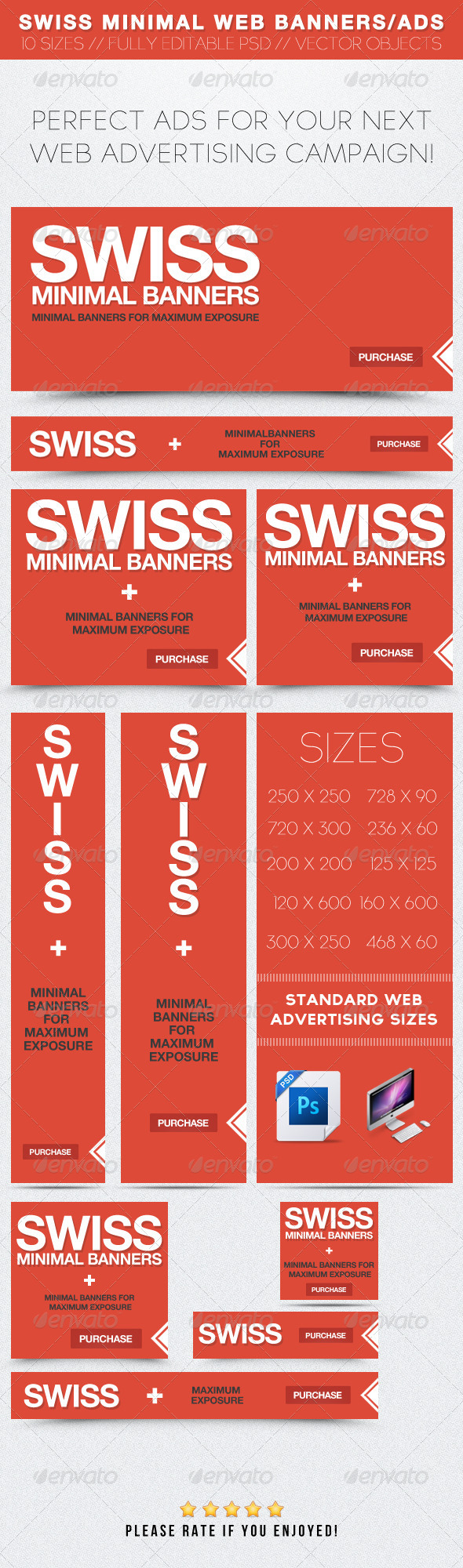 GraphicRiver Swiss Minimal Web Banners Ads 2390693