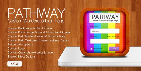 CodeCanyon Pathway Custom Wordpress Login Page 573897