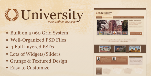 University - Education/Media Centric Template