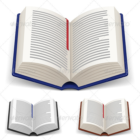 Open Books - Objects Vectors