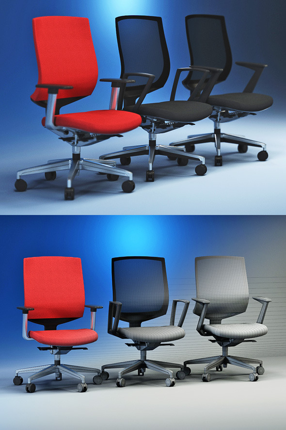 Quality 3dmodel of modern chairs Veo Kloeber