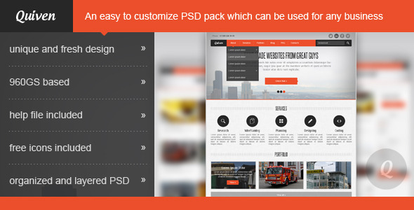 ThemeForest Quiven Creative PSD Template 2389322