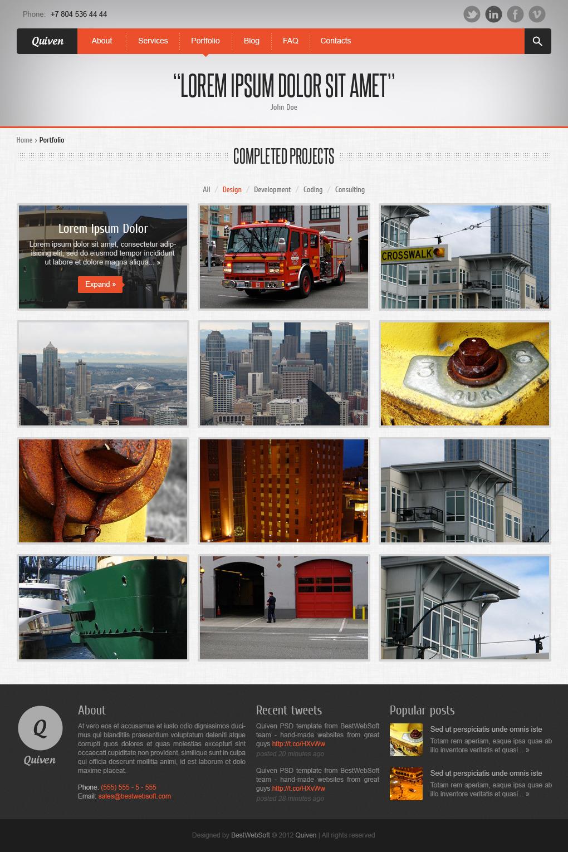 Quiven - Creative PSD Template