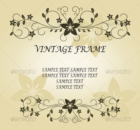 Vintage frame - Backgrounds Decorative
