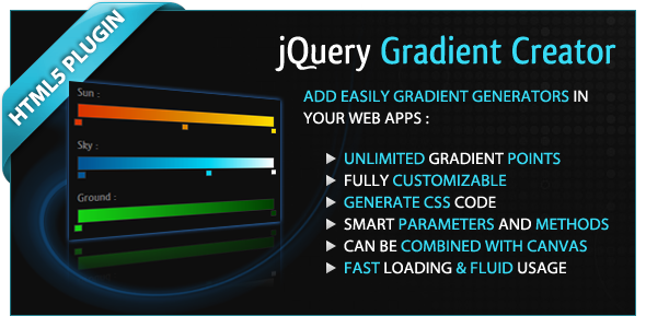 CodeCanyon jQuery Gradient Creator 2054676