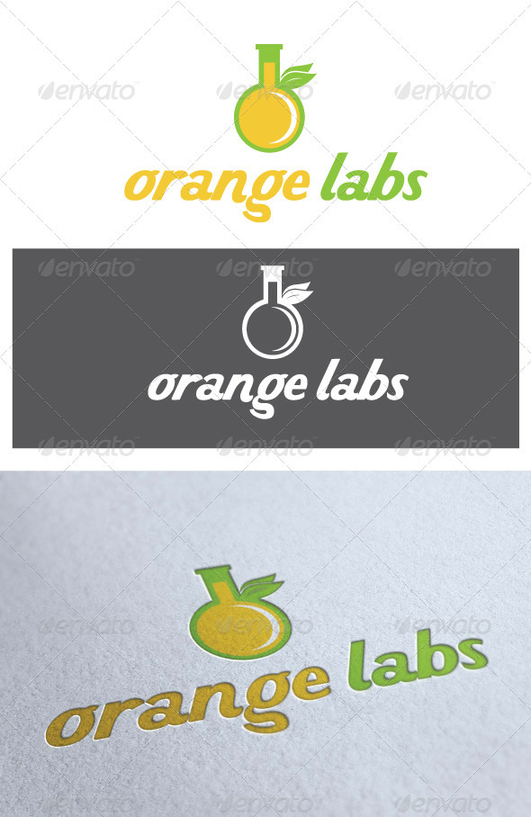 Logo Orange Labs - Food Logo Templates