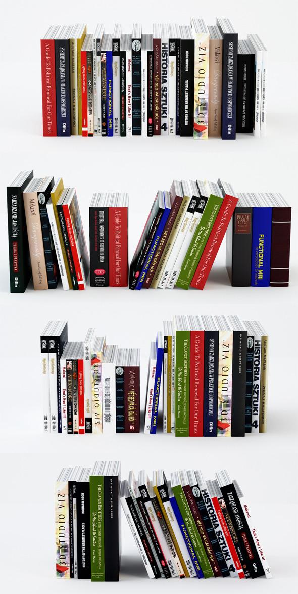 3DOcean Set for Books 2393718