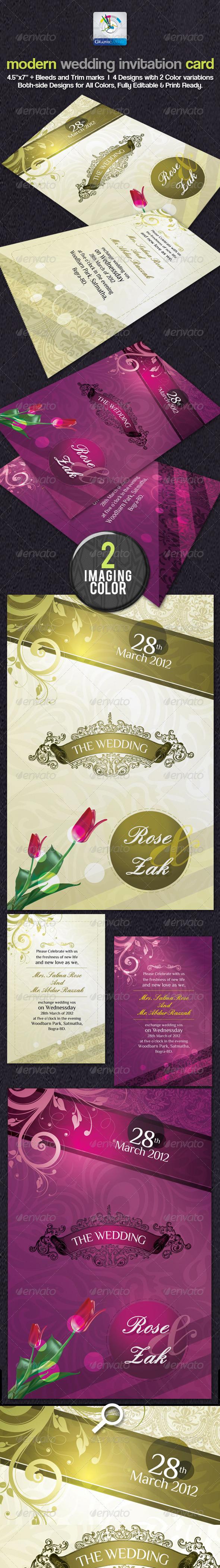 GraphicRiver Modern Wedding Invitation Cards 2393750