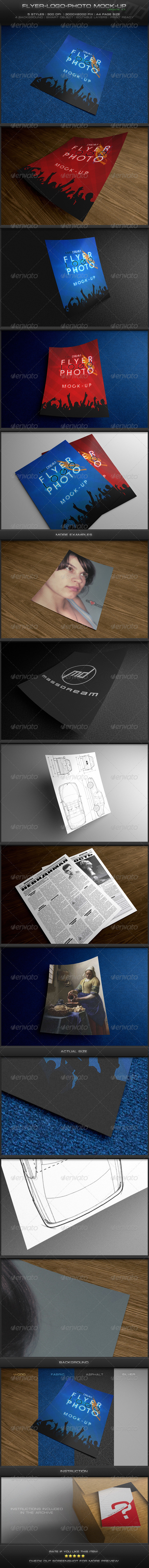 GraphicRiver Flyer-Logo-Photo Mock-Up 1747605